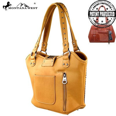 Montana West Tooling Concealed Handgun Collection Handbag ~ Side