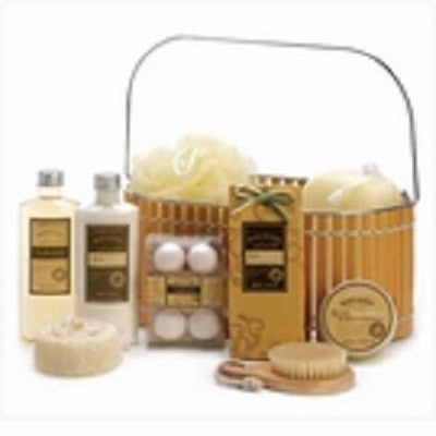 Warm Vanilla Bath Spa Basket