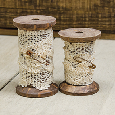 Lace Wooden Spools