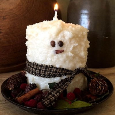 Snowman Hearth Candle