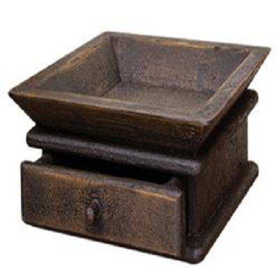 Aged Tray With Drawer