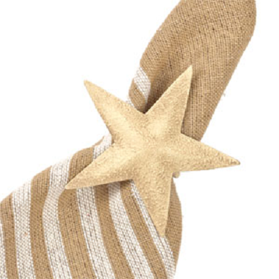 Aged Star Napkin Ring