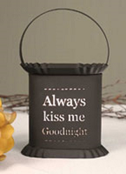 Oval Kiss Me Goodnight Punched Tin Wax Warmer