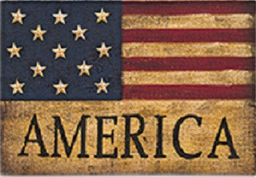 Burlap America Flag Sign