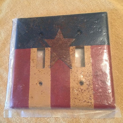 Americana Double Switch Plate