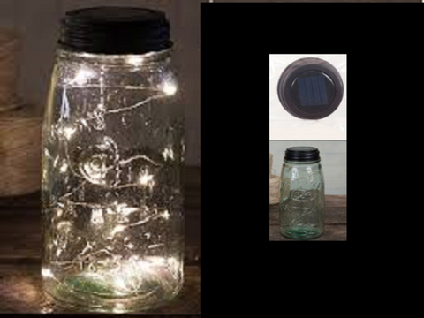 Angel Tears Solar Lighted Mason Jar