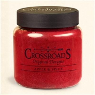 Crossroads Original Designs 16 Ounce Apple & Spice Scented Jar Candle