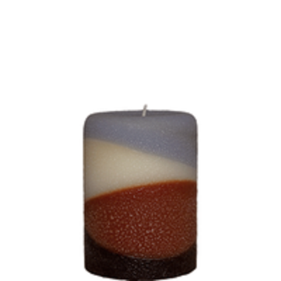 Armadilla Wax Works Aspen 3 x 4 Inch Fragrance Layer Pillar Candle