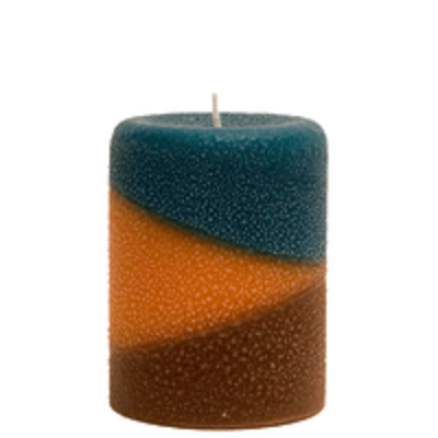 Armadilla Wax Works Copper Canyon 3 x 4 Inch Fragrance Layer Pillar Candle