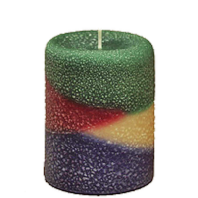 Armadilla Wax Works 3 x 4 Inch Northwoods Fragrance Layer Pillar Candle