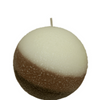 Armadilla Wax Works Cafe Latte 4 Inch Fragrance Layer Ball Candle