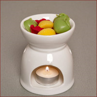 Ivory Tealight Wax Melter