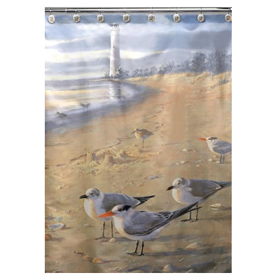 Hautman Brothers At The Beach Shower Curtain by Creative Bath