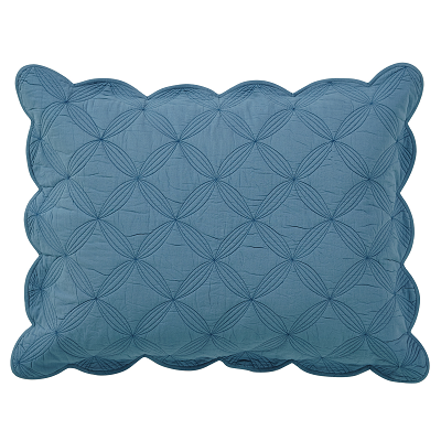 Azure Solid Standard Pillow Sham