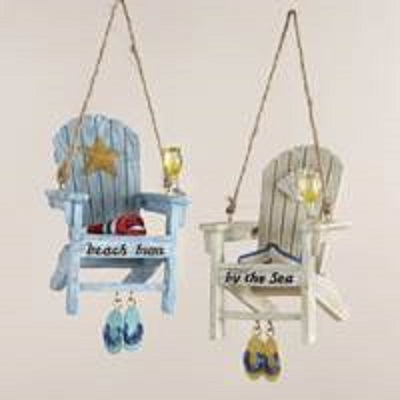 Beach Chair Ornament With Flip Flops