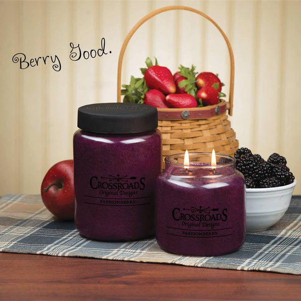 Crossroads Original Designs Passionberry Scented Jar Candles