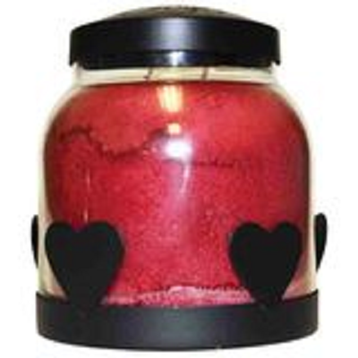 Black Metal Heart Jar Candle Tray