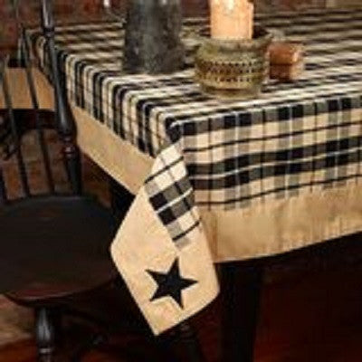Black Star Farmhouse Tablecloth