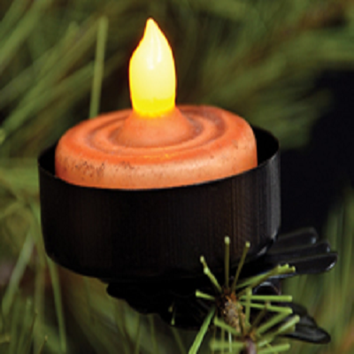 Black Tealight Clip On Holder