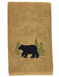 Black Bear Cotton Terry Bath Towel