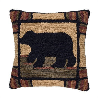Black Bear Pillow Cover