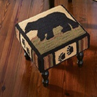 Black Bear Hooked Stool
