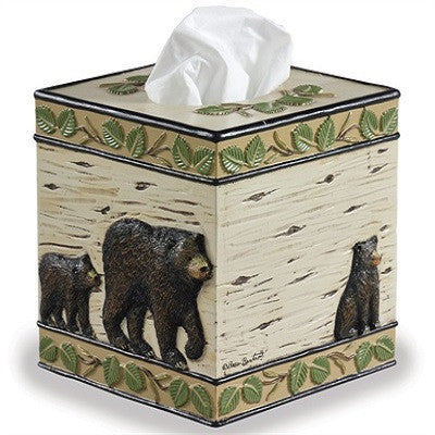 Black Bear Tissue Holder