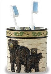 Black Bear Toothbrush Holder
