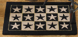 Black Star Farm House Hooked Rug