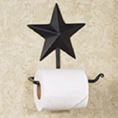 Black Star Toilet Paper Holder