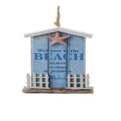 Wooden Cottage With Starfish Ornament