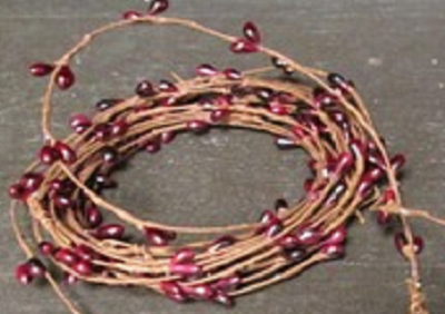 Burgundy Berry Vine Garland