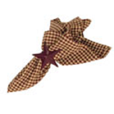 Burgundy Checked Napkin
