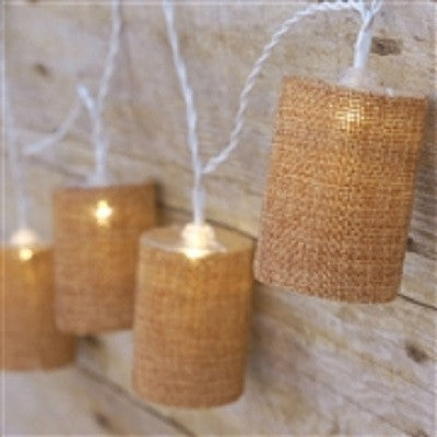Burlap String Lights