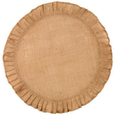 Ruffled Burlap Mat ~ 20 Inches Round