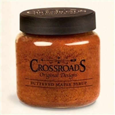 Crossroads 16 Ounce Buttered Maple Syrup Scented Jar Candle