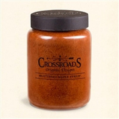 Crossroads 26 Ounce Buttered Maple Syrup Scented Jar Candle