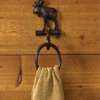 Cast Moose Towel Ring