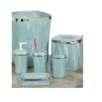 Chloe Aqua Marble Bath Accessories Set
