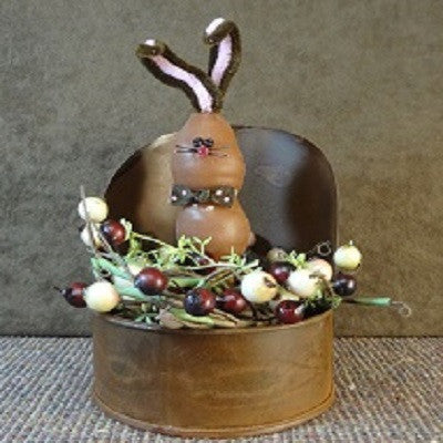 Chocolate Bunny Grain Scoop Night Light