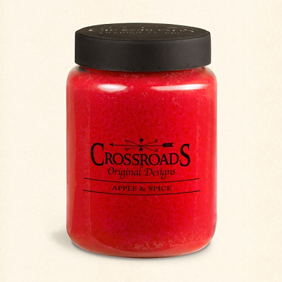 Crossroads Original Designs 26 Ounce Apple & Spice Scented Jar Candle
