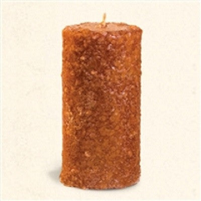 Crossroads 3 x 6  Inch Buttered Maple Syrup Grubby Pillar Candle