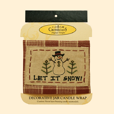 Let It Snow Jar Candle Wrap