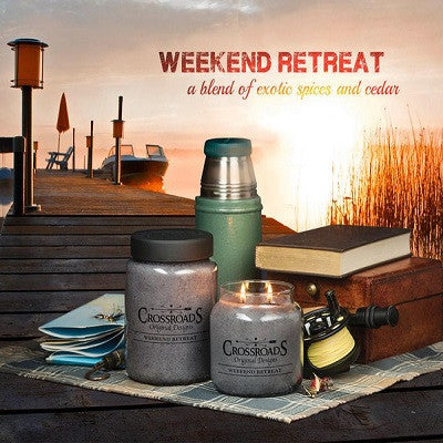 Crossroads Original Designs Weekend Retreat Scented Jar Candles