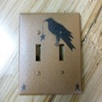 Primitive Crow Double Switch Cover