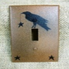 Primitive Crow Single Switch Cover