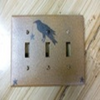 Primitive Triple Crow Switch Plate Cover