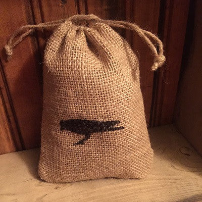 Scented Primitive Crow Burlap Sack