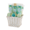 Cucumber and Basil Spa Gift Basket