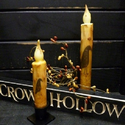 Crow Timer Taper Candles